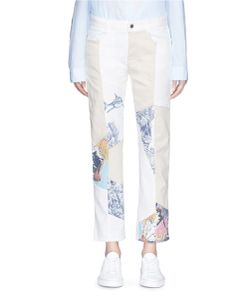Stella McCartney   Surf Print Patchwork Colourblock Denim Pants