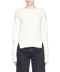 Helmut Lang | Detachable Button Sleeve Rib Knit Sweater