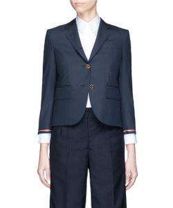 Thom Browne   Stripe Selvedge Insert Wool Twill Blazer