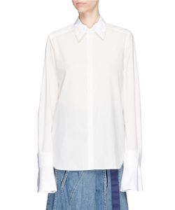 Muveil | Detachable Embellished Collar And Cuff Shirt