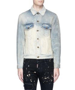 Faith Connexion | Distressed Bleached Cotton Denim Jacket