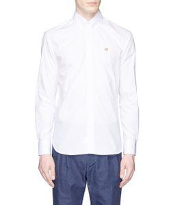 Maison Kitsuné | Fox Head Embroidered Poplin Shirt