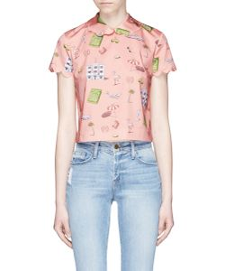Olympia Le-Tan | X The Webster Miami Print Scalloped Top