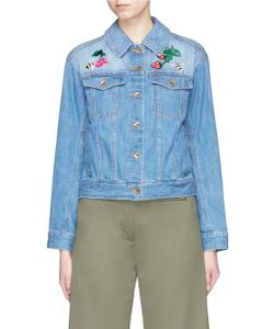 Muveil | Swilling Fruit Wine Embellished Embroidery Denim Jacket