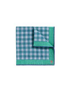 Isaia | Check Print Pocket Square