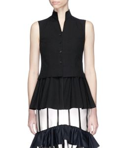 Tome | Peplum Waist Cotton Chinoise Vest