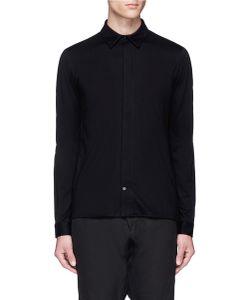 Devoa | Cotton Jersey Zip Shirt