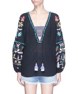 Figue | Victoria Pompom Embroidered Tunic