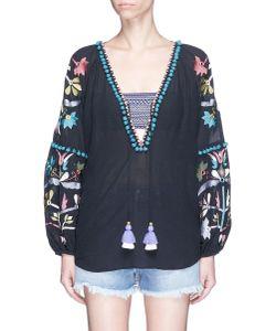 Figue | Victoria Pompom Embroidered Tunic