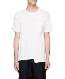 The Viridi-Anne | Asymmetric Hem Patch Pocket T-Shirt