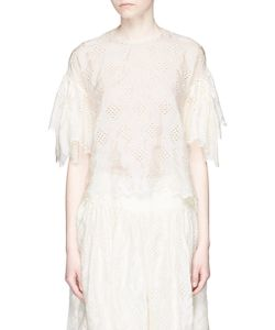 MS MIN | Broderie Anglaise Silk Top