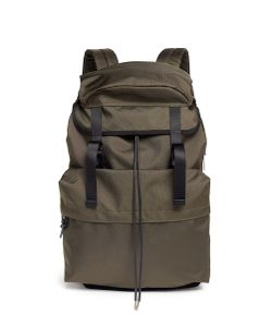 Lorinza | Buckled Ballistic Nylon Drawstring Backpack