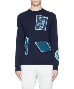 PS Paul Smith | Travel Badge Jacquard Cotton Sweater