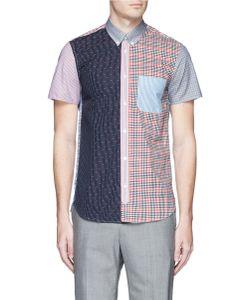 Maison Kitsuné | Patchwork Cotton Short Sleeve Shirt
