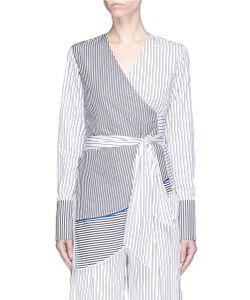 Tome | Stripe Cotton Poplin Wrap Shirt