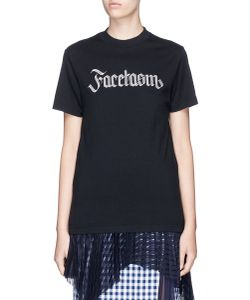 Facetasm | Logo Embroidered T-Shirt