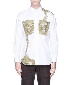 Comme Des Garçons | Camouflage Patchwork Poplin Shirt
