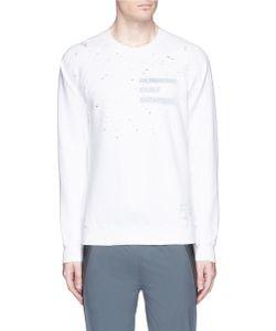 SATISFY   Reflective Print Moth Eaten Effect Running Sweatshirt