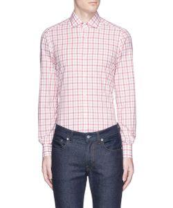 Isaia | Milano Gingham Check Poplin Shirt