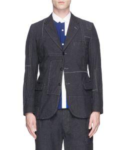 Comme Des Garçons Homme Plus | Patchwork Stitching Soft Blazer