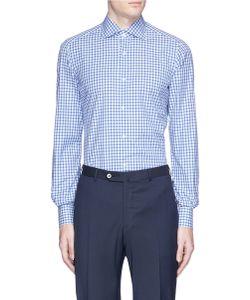Isaia | Milano Check Plaid Poplin Shirt