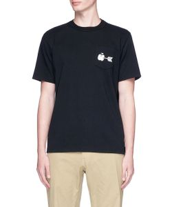 Sacai   Apple Arrow Print T-Shirt