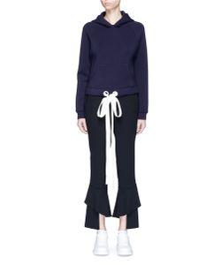 Xiao Li | Graphic Print Bonded Jersey Hoodie