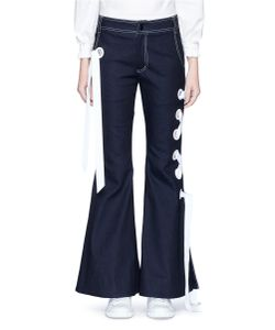 Angel Chen | Ribbon Lace-Up Flared Denim Pants