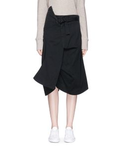 Bassike | Asymmetric Belted Cotton Drill Skirt