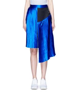 Public School | Kaleb Colourblock Asymmetric Pleated Satin Skirt
