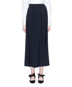 The Row | Skannt Pleated Crepe Pants