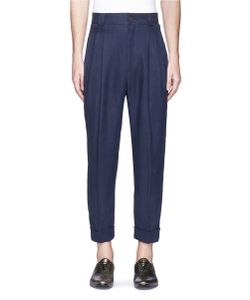 Haider Ackermann   Pleated High Waist Cropped Linen Pants