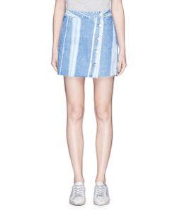 3X1 | Higher Ground Stripe Denim Skirt