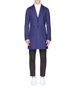 Comme Des Garçons | Logo Print Cotton Twill Coat