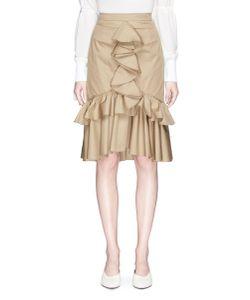 Tome | Ruffle Cotton Drill Mermaid Skirt