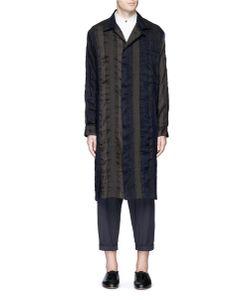 Uma Wang | Adolfo Stripe Patchwork Coat