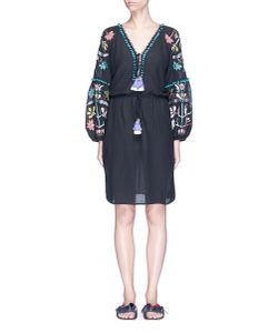 Figue | Victoria Pompom Embroidered Dress
