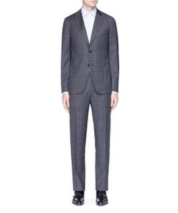 Isaia | Capri Check Plaid Wool Suit