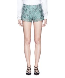Jourden | Emerald China Stud Paisley Brocade Shorts