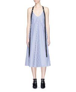 Strateas Carlucci | Harness Shoulder Strap Stripe Cotton Dress