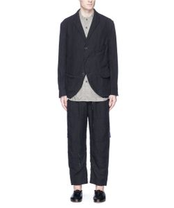 Ziggy Chen | Hem Underlay Linen Hopsack Soft Blazer