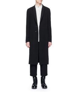 The Viridi-Anne | Peaked Lapel Long Cotton Coat