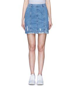 Public School | Edgar Distressed Cotton Denim Skirt