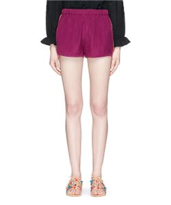 Figue | Cassia Embroidered Outseam Satin Shorts