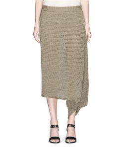 Stella McCartney | Chunky Stitch Asymmetric Linen Knit Skirt