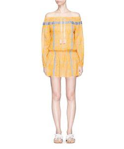 Lemlem   Makena Radial Print Off-Shoulder Mini Dress