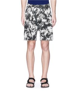 Attachment | Palm Tree Print Linen-Cotton Bermuda Shorts