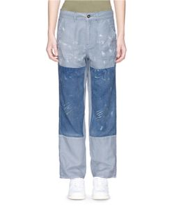 Denham | Bonnie Patchwork Linen-Cotton Pants