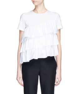 Co | Tiered Ruffle Poplin Top