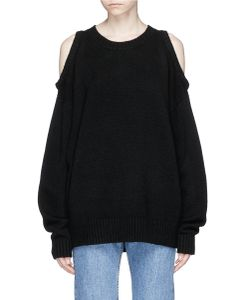 Bassike | Cold Shoulder Yak Hair Sweater